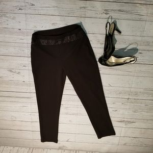 Save the Queen Black Ankle Pants